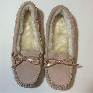 NWOT Target Pink Moccasin Slippers